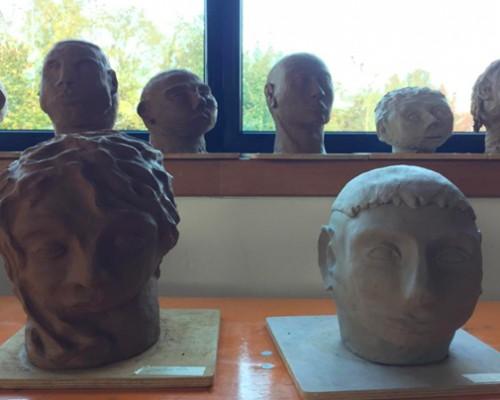 La testa in creta XII classe